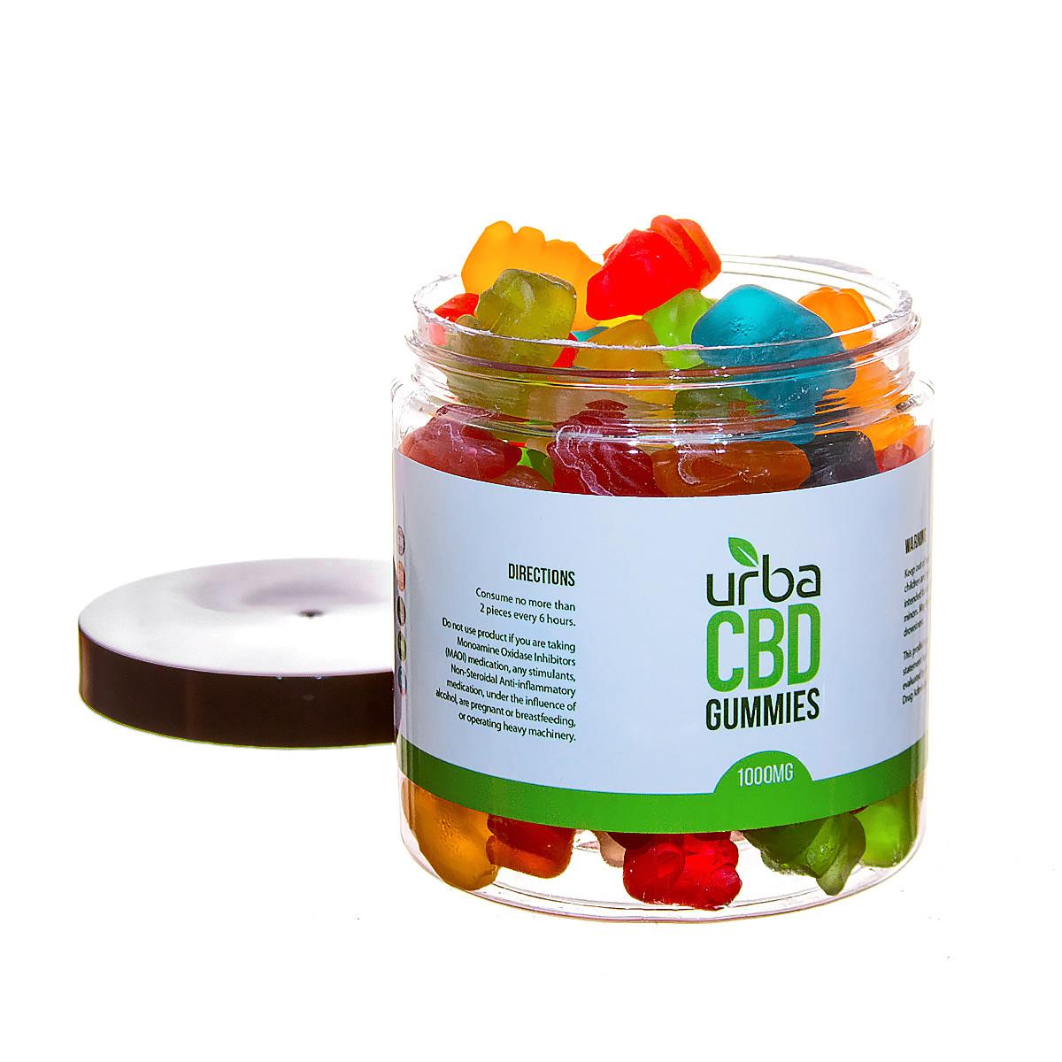 Urba CBD Gummies Bears 1000mg