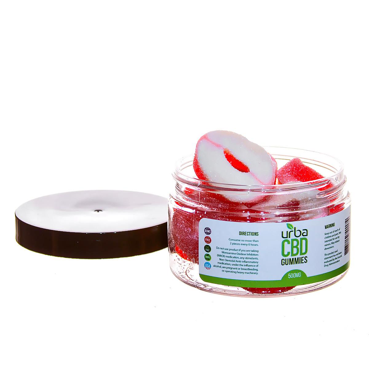 Urba CBD Gummies Rings Red 500mg