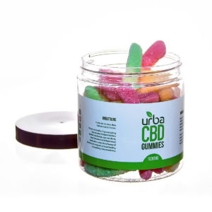 Urba CBD Gummies Sour Worms 1000mg