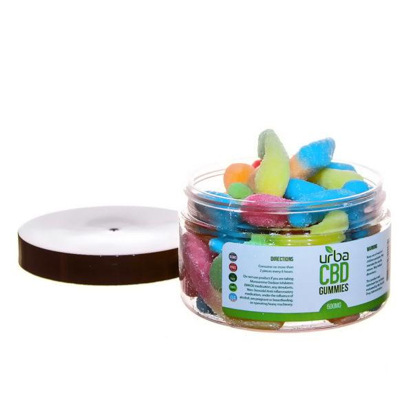 Urba CBD Gummies Sour Worms 500mg