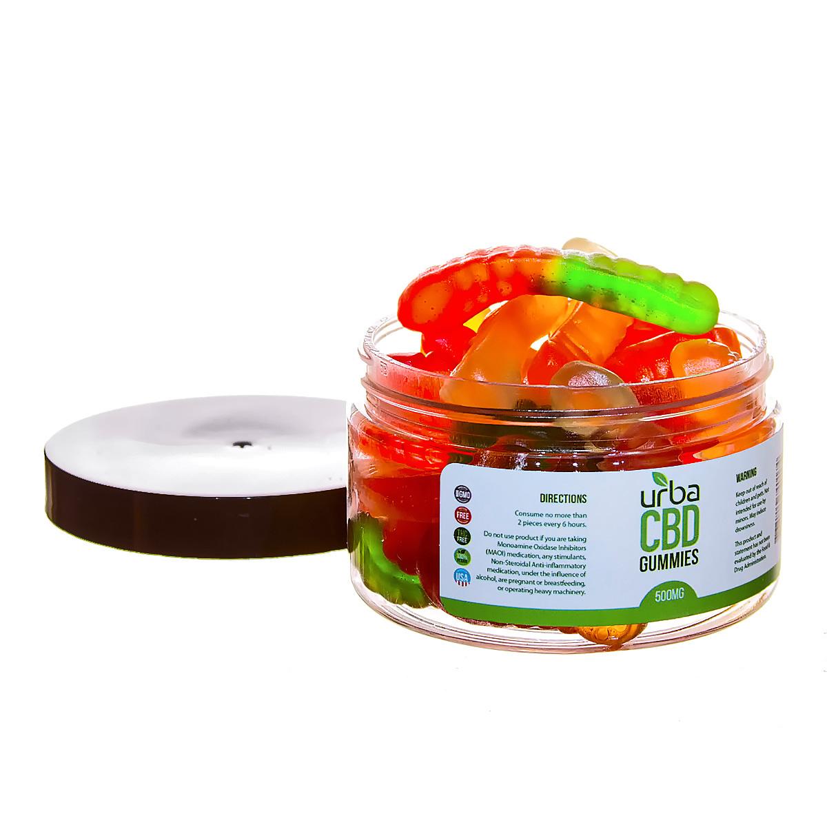 Urba CBD Gummies Worms 500mg